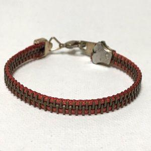 """Jewelry - Vintage Real Zipper Bracelet 7.25"""""""